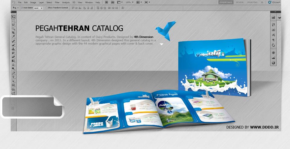 طراحی کاتالوگ شرکت پگاه تهران
