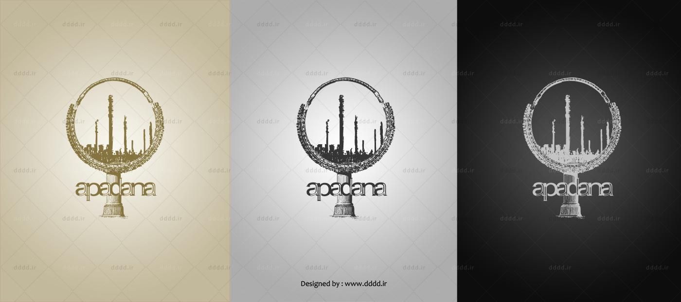 طراحی لوگو شرکت آپادانا - شرکت بعد چهارمطراحی لوگو شرکت آپادانا