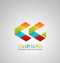 طراحی لوگو شرکت color glass