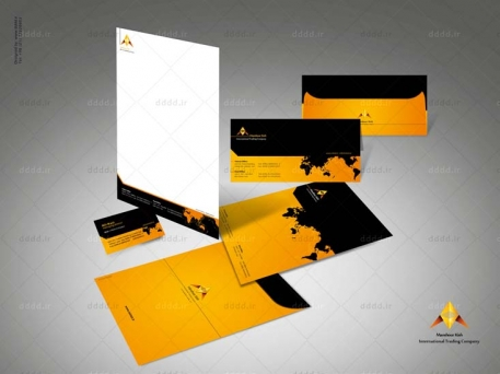 طراحی ست اداری شرکت منشور کیش