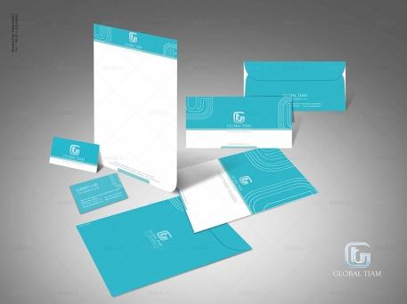طراحی ست اداری شرکت بازرگانی تیام