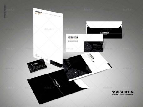 طراحی ست اداری شرکت ویسنتین