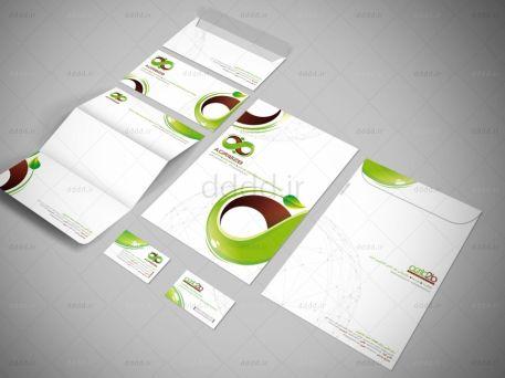 طراحی ست اداری وب سایت محصولات کشاورزی Agri b2b