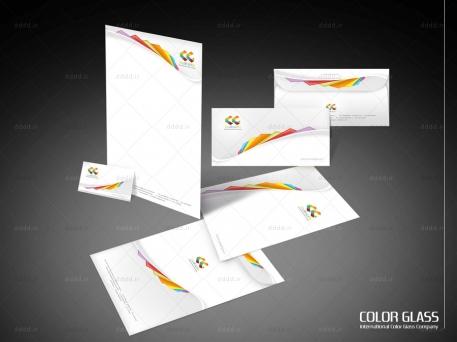 طراحی ست اداری شرکت ColorGlass