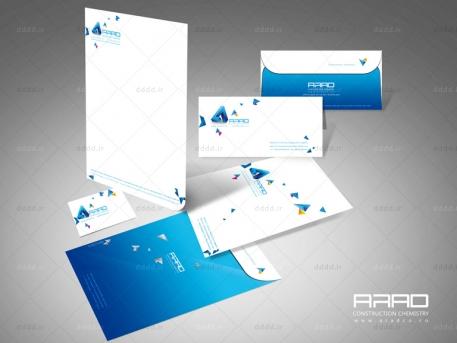 طراحی ست اداری شرکت آراد