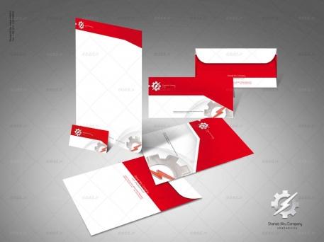طراحی ست اداری شرکت شهاب نیرو