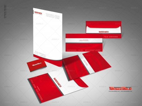 طراحی ست اداری شرکت تکساز تابلو
