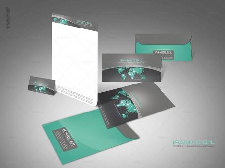 طراحی ست اداری شرکت ایرامیکو