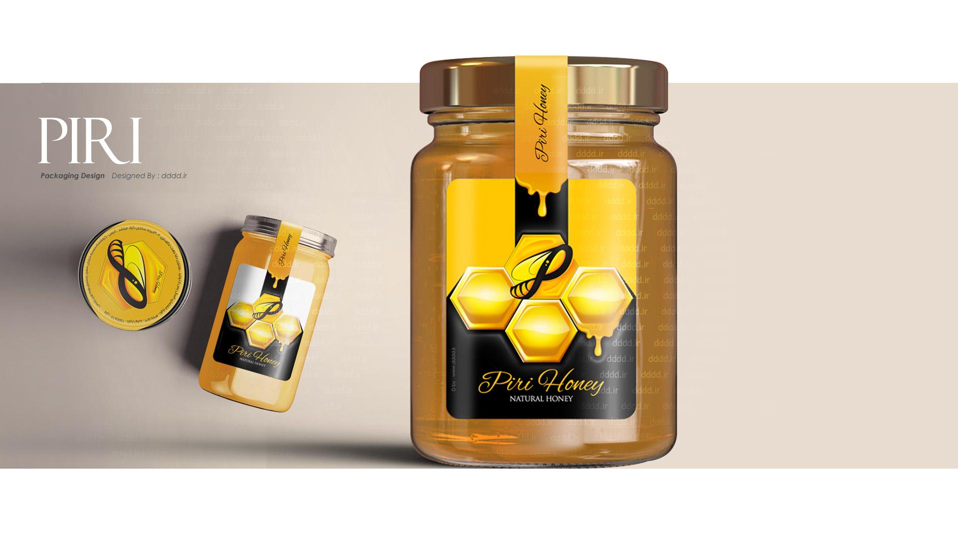 طراحی بسته بندی عسل پیری