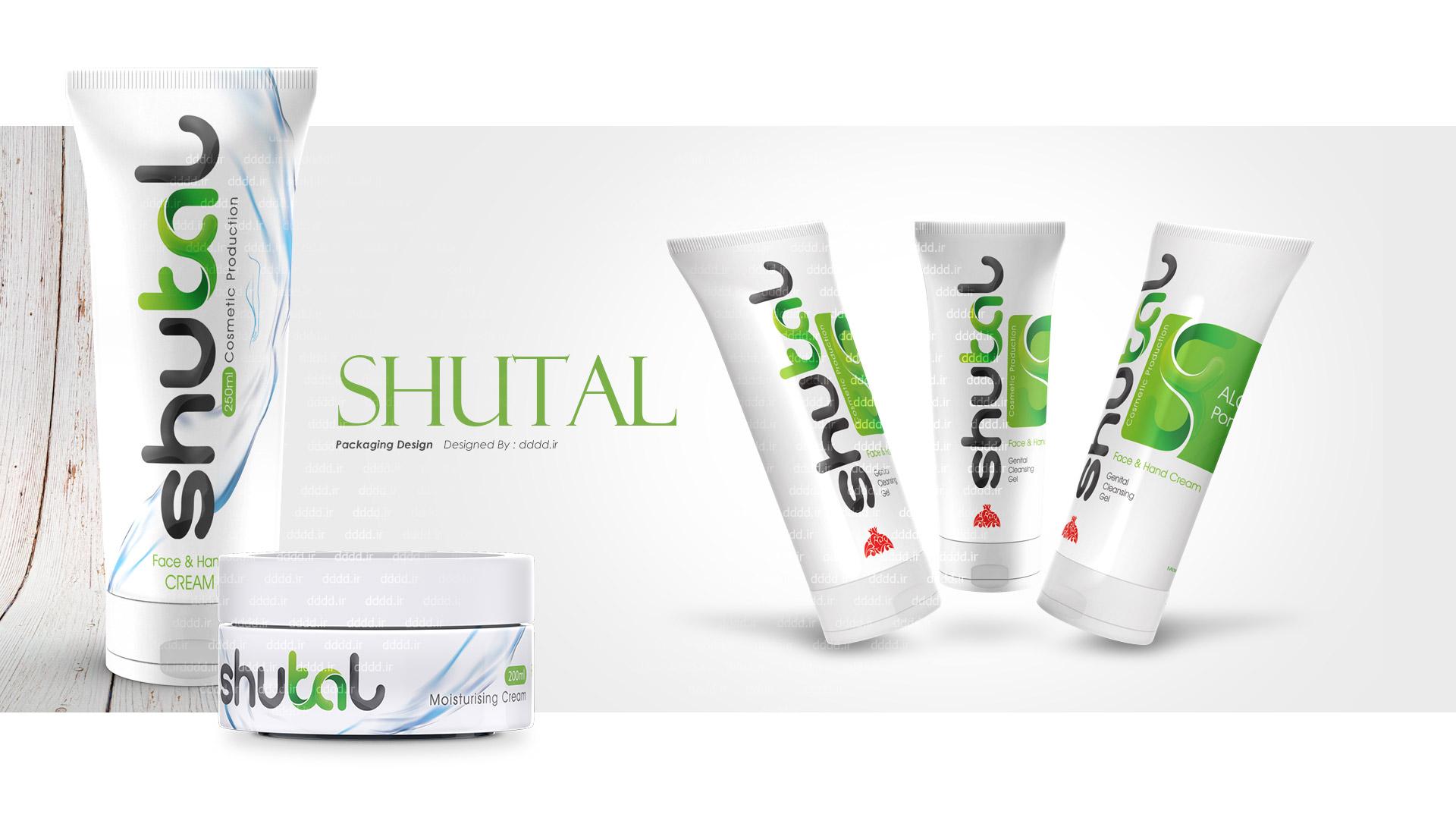 طراحی بسته بندی لوازم آرایشی بهداشتی شوتال