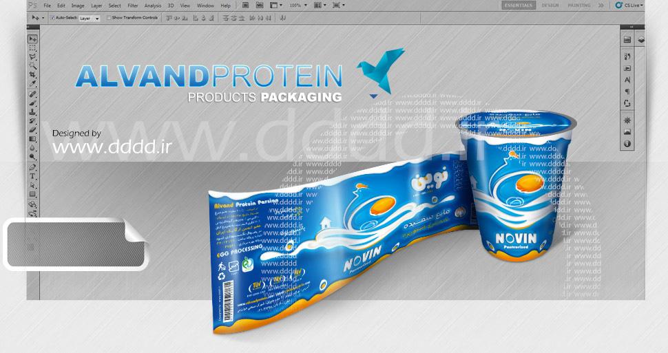 طراحی بسته بندی سفیده تخم مرغ الوند پروتئین