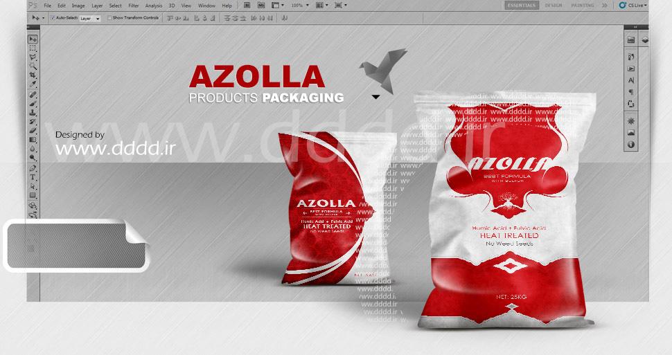 طراحی بسته بندی محصولات آزولا