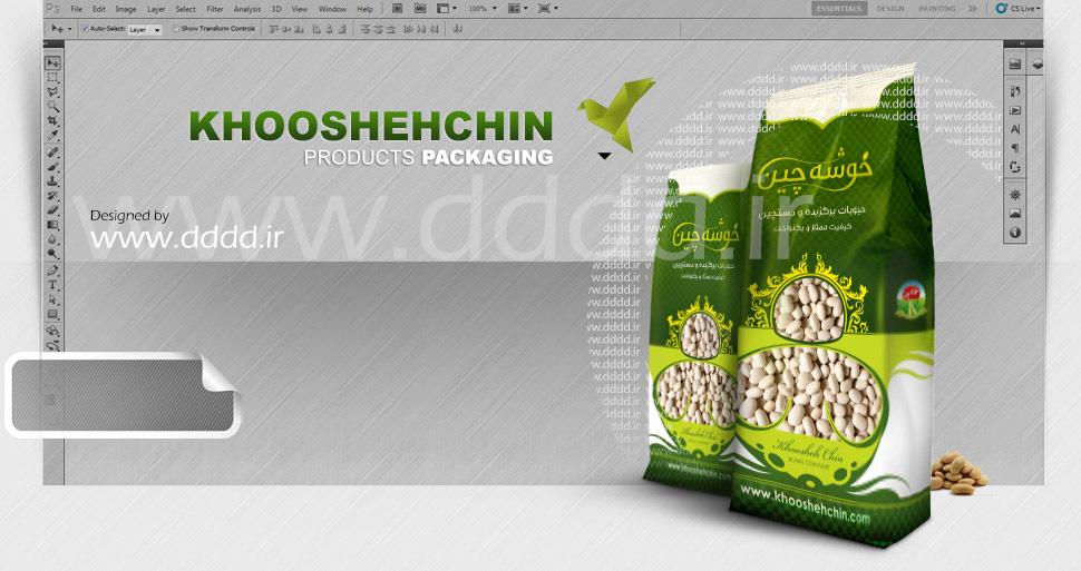 طراحی بسته بندی محصولات خوشه چین