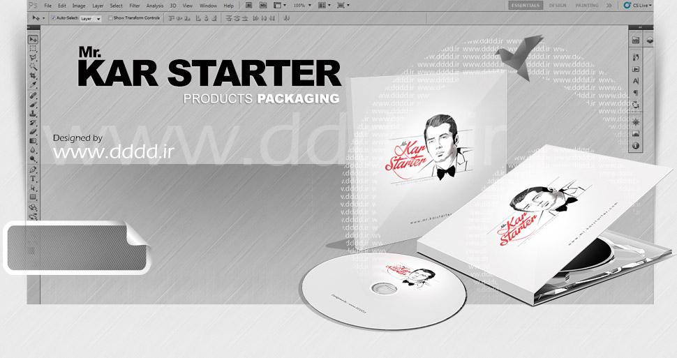 شخصیت پردازی و طراحی پک سی دی Mr.KarStarter