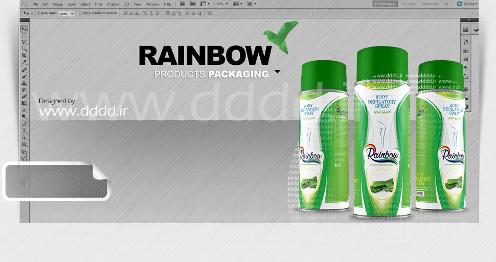 طراحی بسته بندی محصولات بهداشتی Rainbow