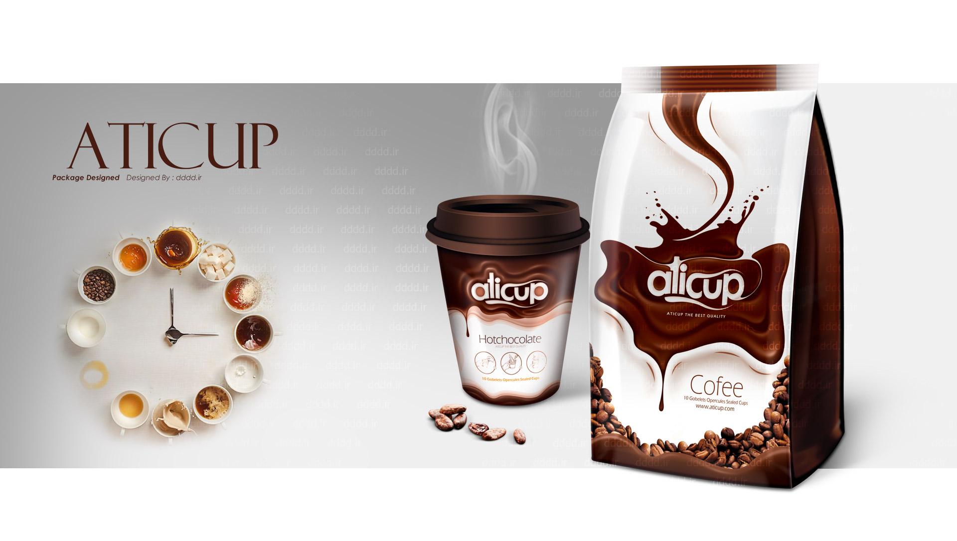 طراحی بسته بندی قهوه اتیکاپ