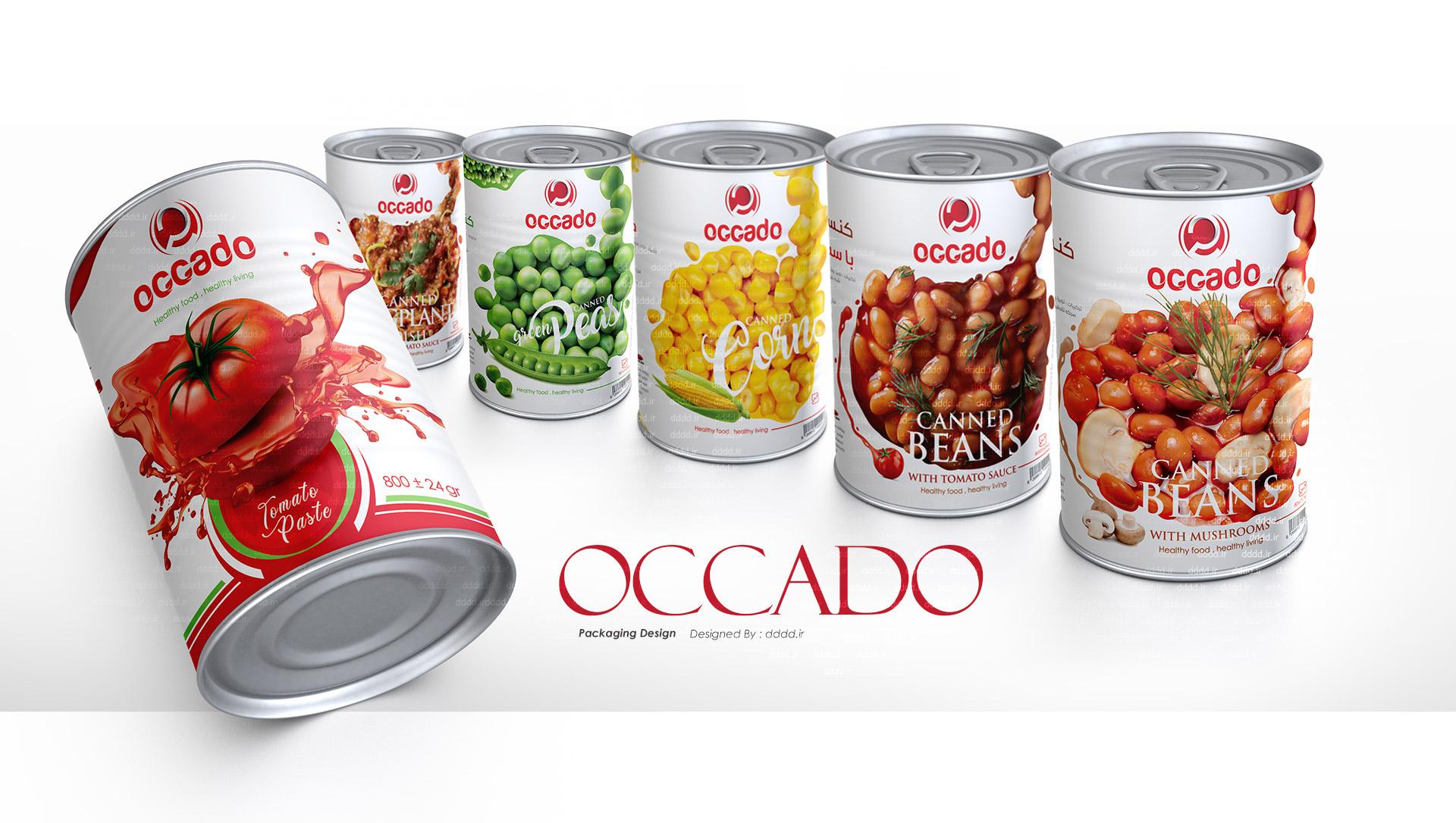 طراحی بسته بندی محصولات غذایی اوکادو