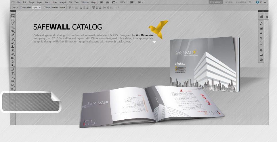 طراحی کاتالوگ شرکت Safewall