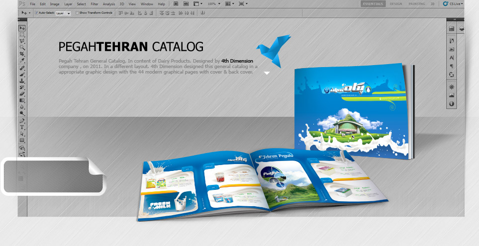 طراحی کاتالوگ کارخانه لبنی پگاه تهران