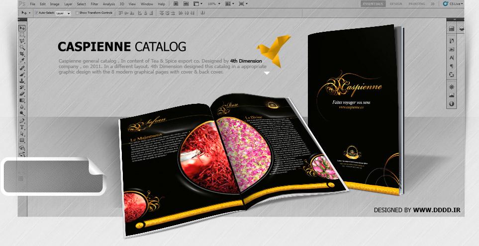 طراحی کاتالوگ شرکت کاسپین