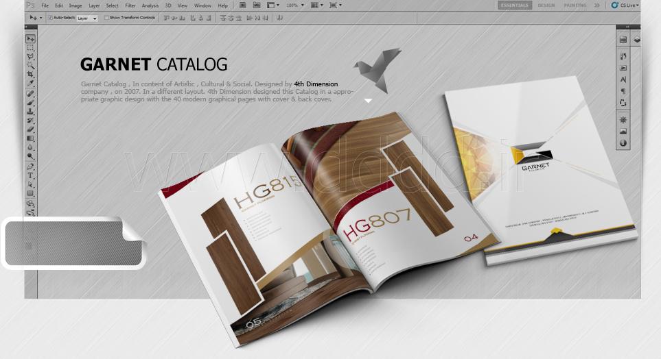 طراحی کاتالوگ شرکت گارنت