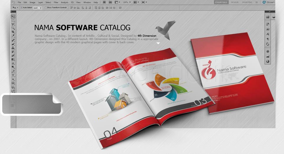 طراحی کاتالوگ شرکت نرم افزاری نما
