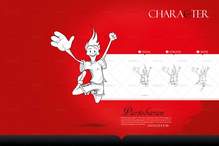 طراحی کاراکتر و شخصیت پردازی نوشابه انرژی زا Rexous