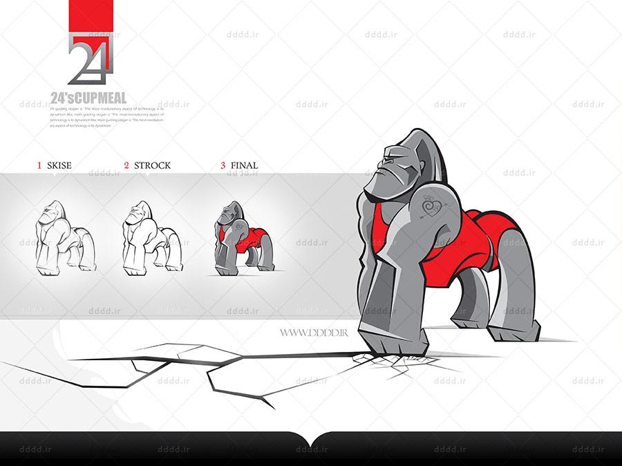 طراحی کاراکتر و شخصیت پردازی فست فود 24 مزه