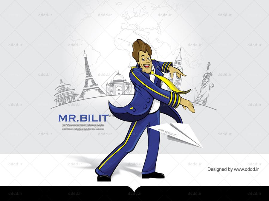 طراحی کاراکتر Mr.Bilit