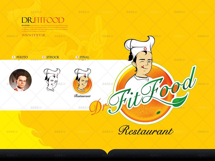 طراحی کاراکتر و شخصیت پردازی رستوران Dr Fit Food