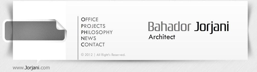 طراحی سایت فلش شرکت معماری جرجانی
