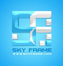 طراحی لوگو شرکت قاب آسمان