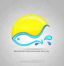 طراحی لوگو شرکت دریای بیکران
