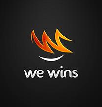 طراحی لوگو شرکت We Wins