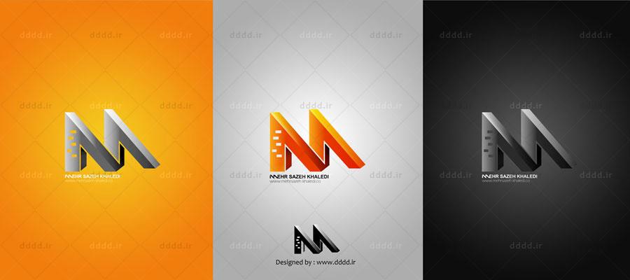 طراحی لوگو شرکت مهرسازه - شرکت بعد چهارم... 01 ...