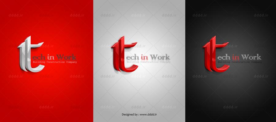 طراحی لوگو شرکت تک این ورک Tech in work - شرکت بعد چهارم01 ...