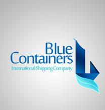 طراحی لوگو شرکت bluecontainers