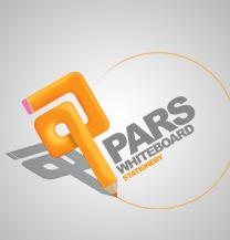 طراحی لوگو برند لوازم التحریر پارس