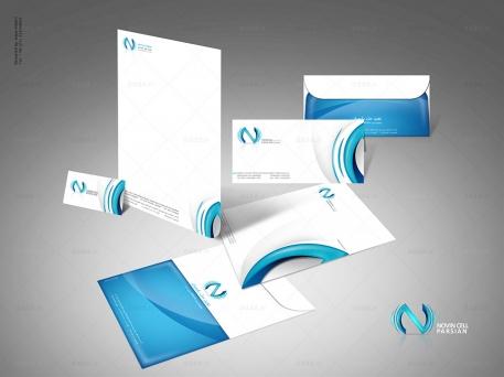 طراحی ست اداری شرکت نوین سل
