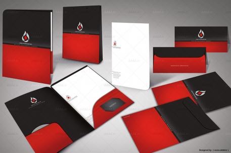 طراحی ست اداری شرکت ژرف