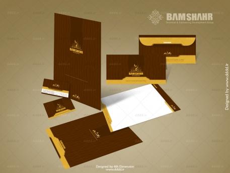 طراحی ست اداری شرکت ساختمانی بام
