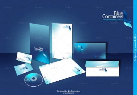 طراحی ست اداری شرکت Blue Containers