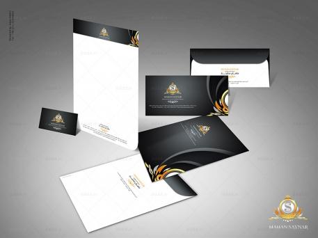 طراحی ست اداری شرکت ماهان ساینار