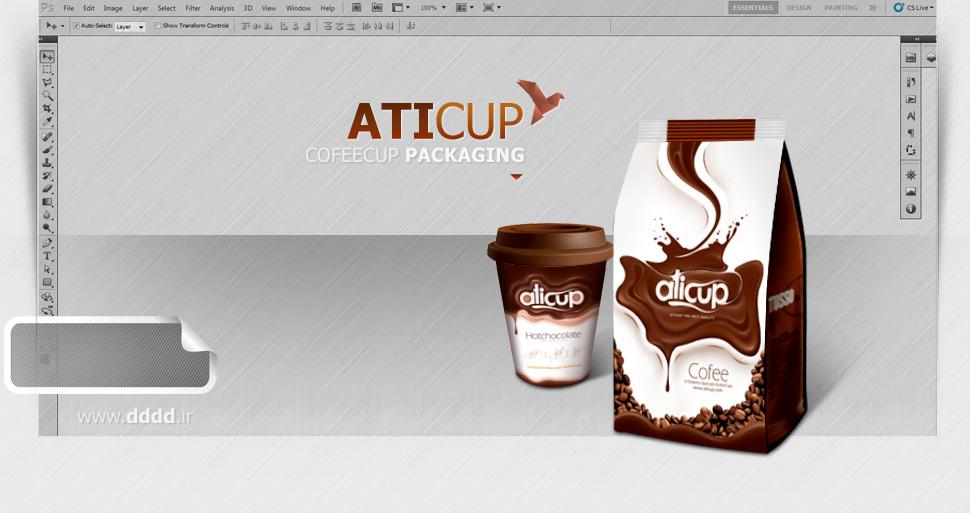 طراحی بسته بندی محصولات اتیکاپ