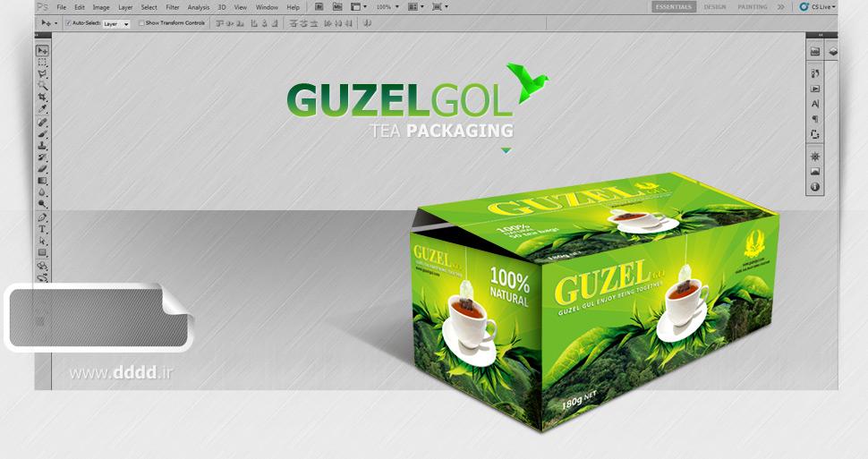 طراحی بسته بندی چای گزل گل