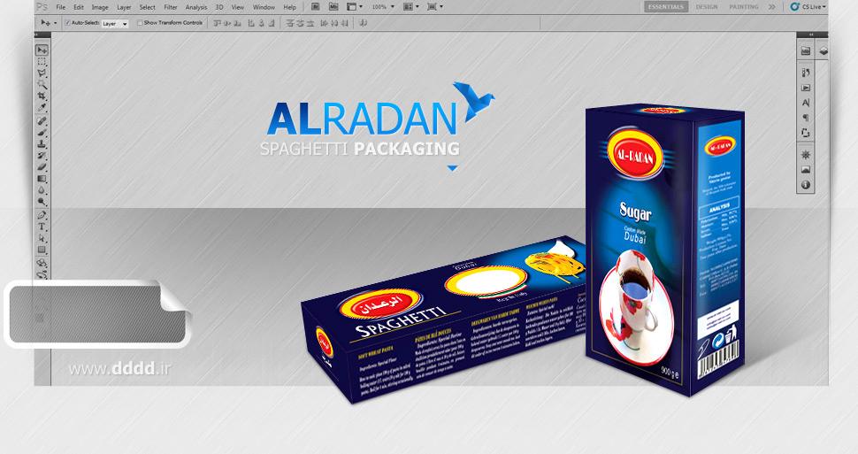 طراحی بسته بندی الرعدان