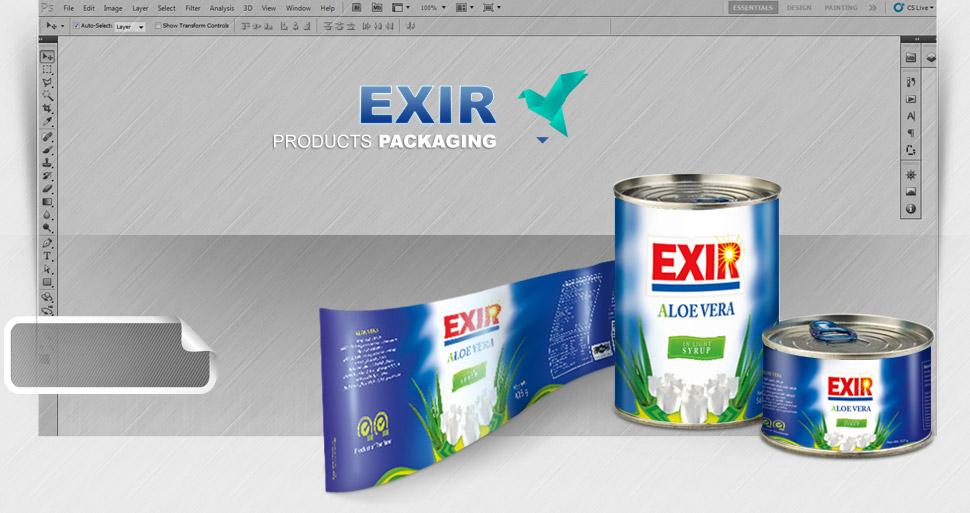 طراحی بسته بندی اکسیر