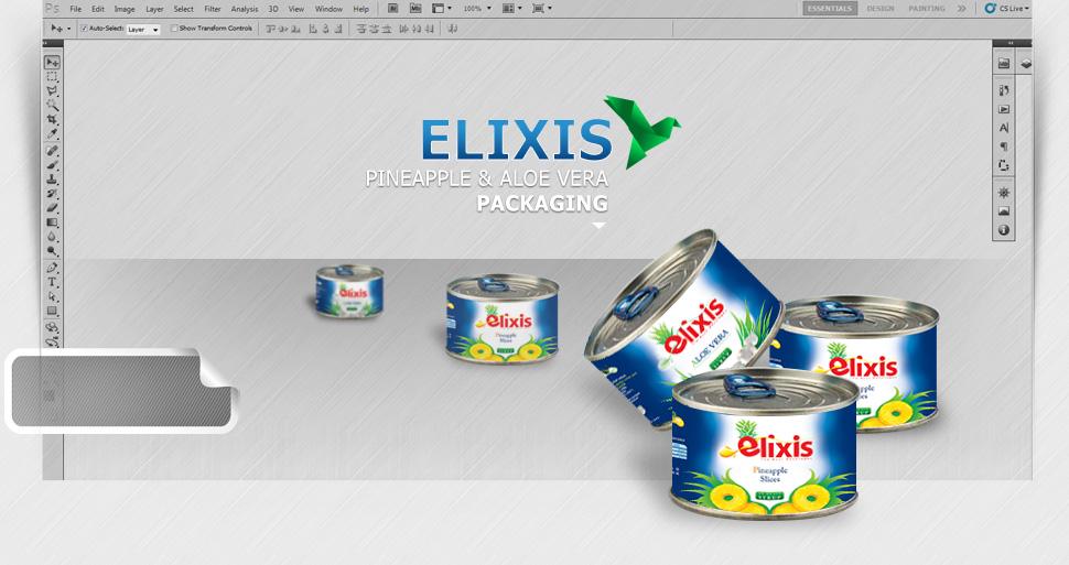 طراحی بسته بندی آناناس الیکسیس