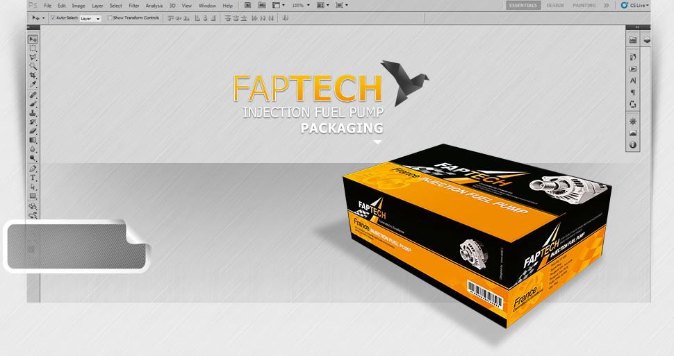 طراحی بسته بندی قطعات خودرو فاپتک