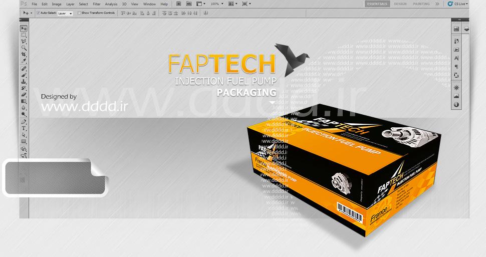 طراحی بسته بندی قطعات خودرو فاپ تک